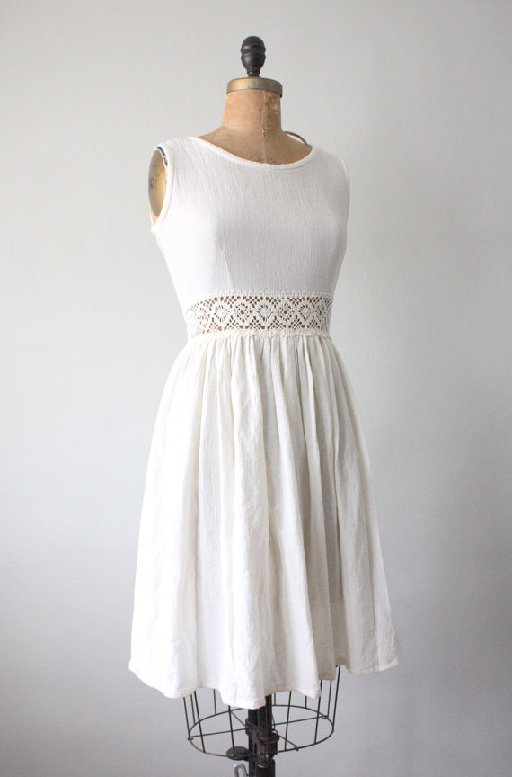 winter white vintage dress
