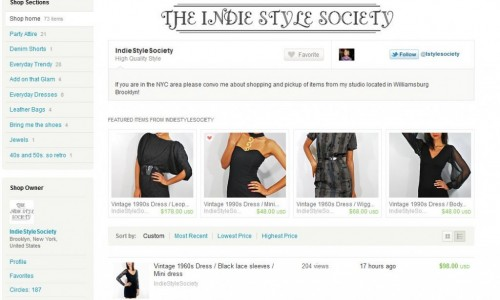 indie style society etsy logo