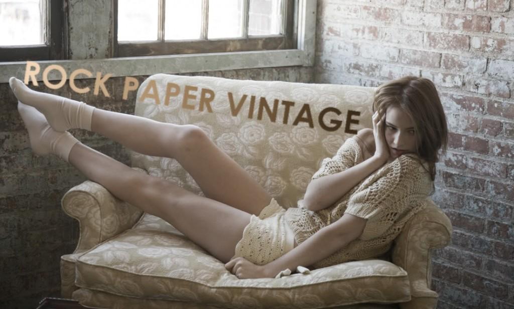 rock paper vintage logo