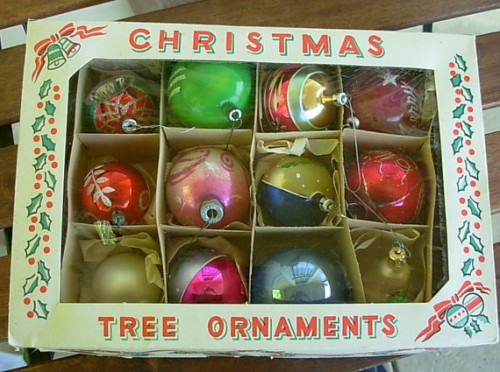 1950s christmas tree ornaments - Vintage Christmas Decorations 1950s