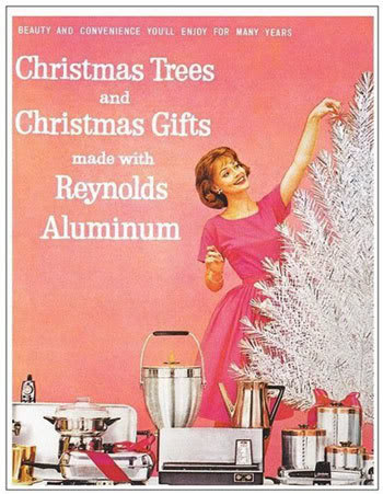 aluminum christmas tree advertisement 1960s