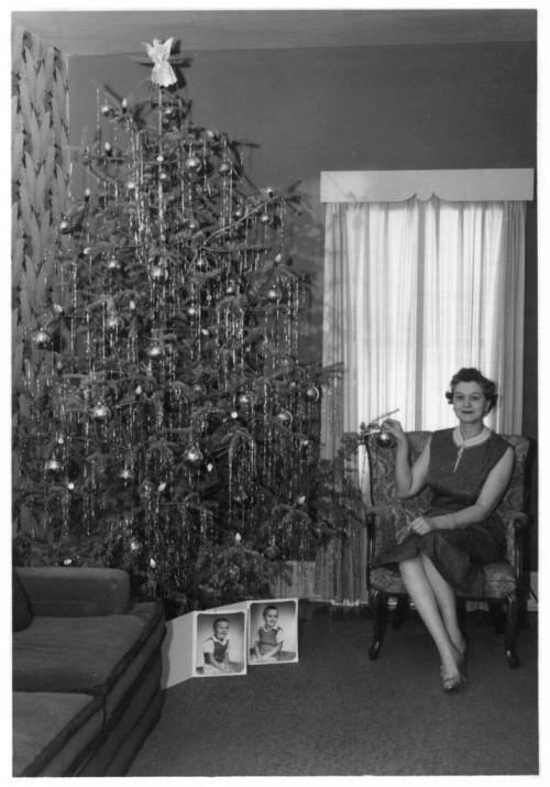 vintage christmas tree 1950s