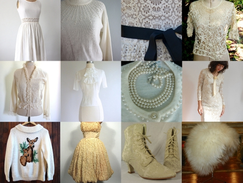 winter white vintage clothing