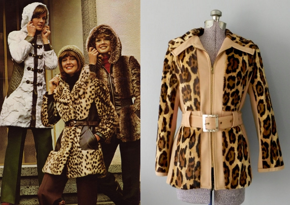 clothing of the 70s animal print coats