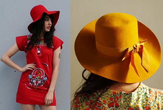 clothing of the 70s floppy hats
