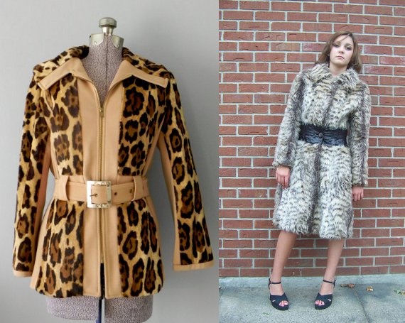 clothing of the 70s animal print coat