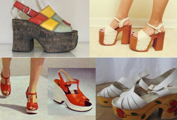 clothing of the 70s platform shoe