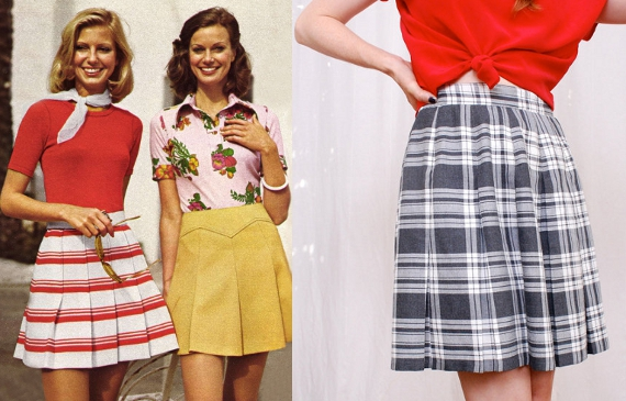 clothing of the 70s scooter skirts