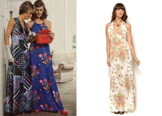 Seventies style long dresses