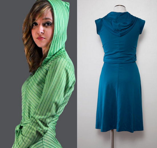 clothing of the 70s hooded dresses