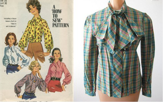 clothing of the'70s ascot blouses