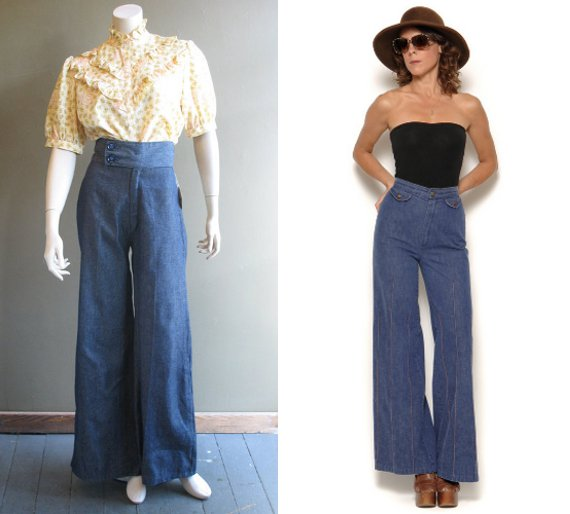clothing of the 70s denim