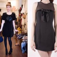 vintage babydoll little black dress