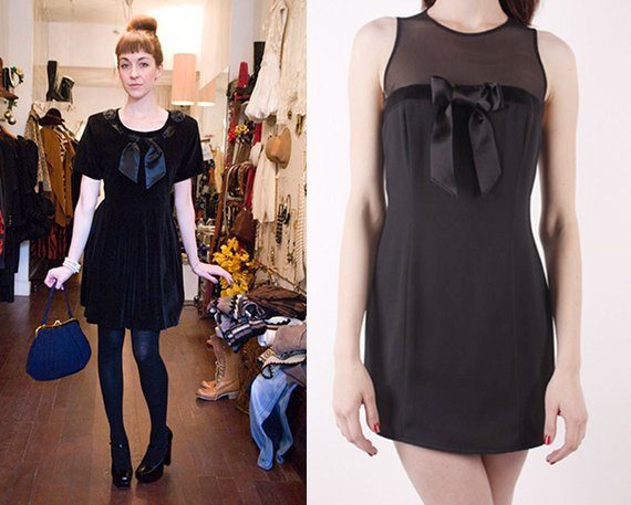 vintage babydoll little black dress