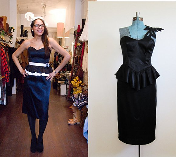 vintage peplum little black dress