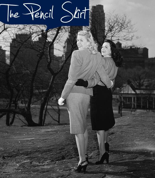 1940s fashion skirts
