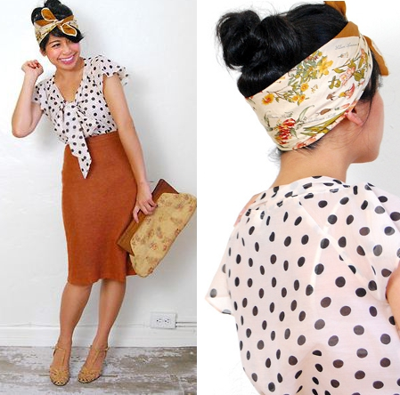 1940s headscarves adore vintage
