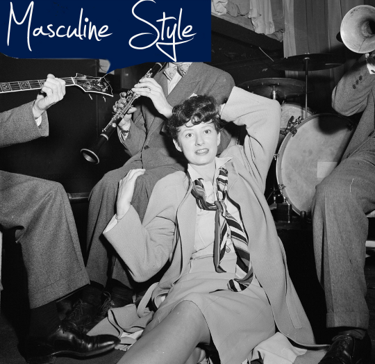 1940s masculine style