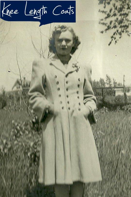 1940s vintage trench coat