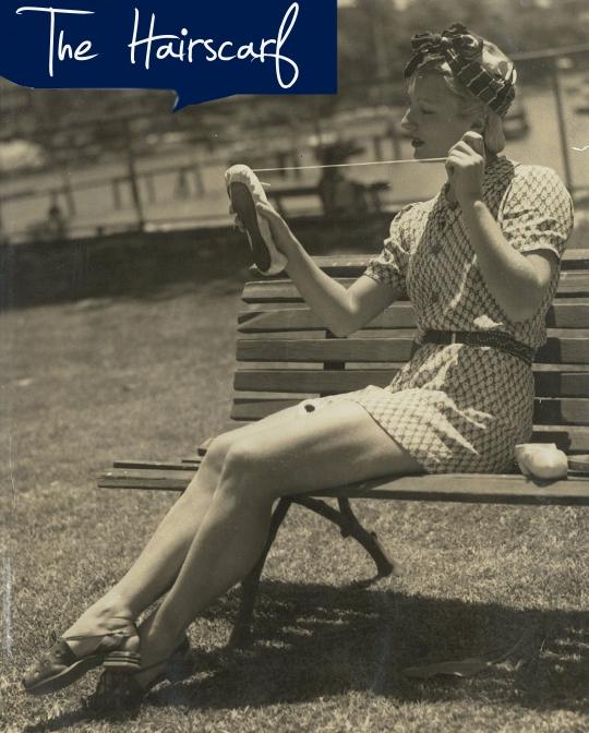 1940s vintage hairscarves