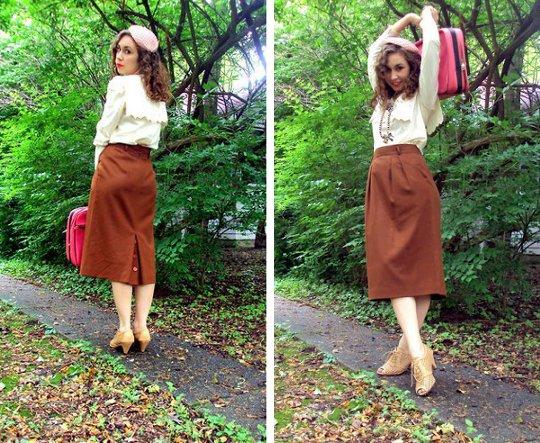 1940s vintage pencil skirt