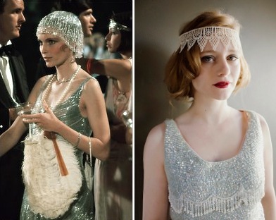 20s clothing trend jeweled headpieces