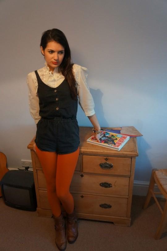 vintage secretary blouse 2