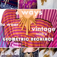 geometric necklace collage