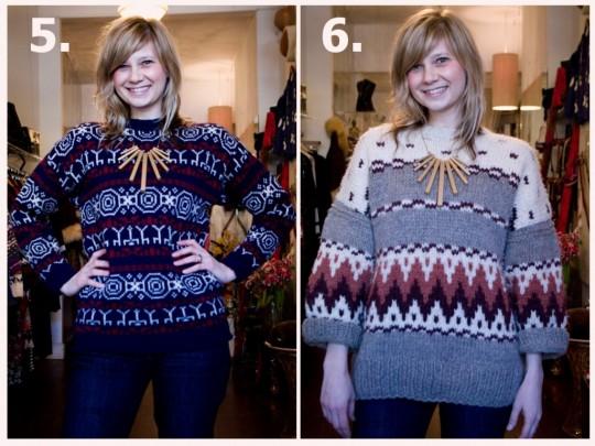 diy geometric necklace vintage ethnic sweater
