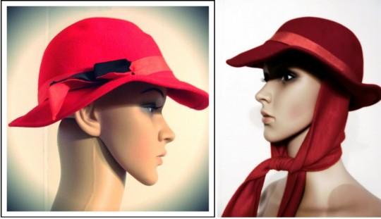 red vintage valentines day hat