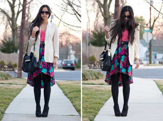80s clothing vintage fishtail skirt