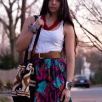 1980s clothing vintage fishtail skirt