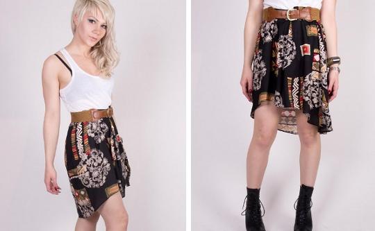vintage fishtail skirt etsy
