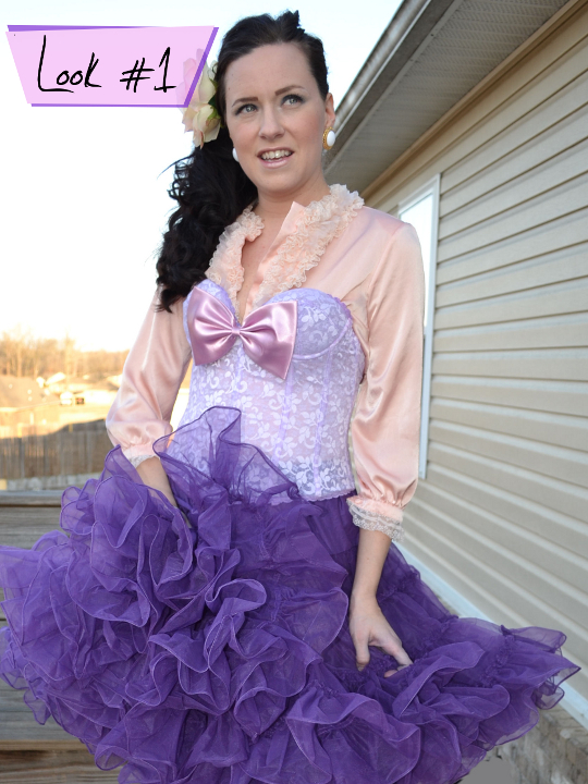 1980s vintage bed jacket styled into party look