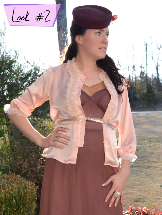 1980s bed jacket styled with slip dress