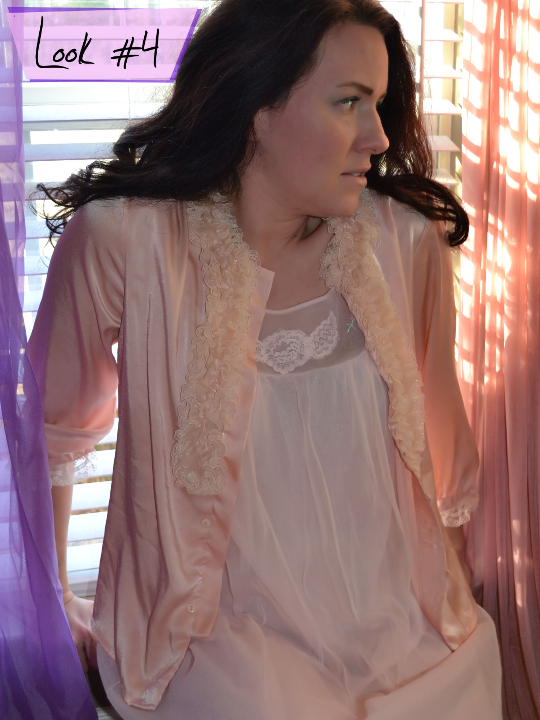 1980s bed jacket styled for sleepwear