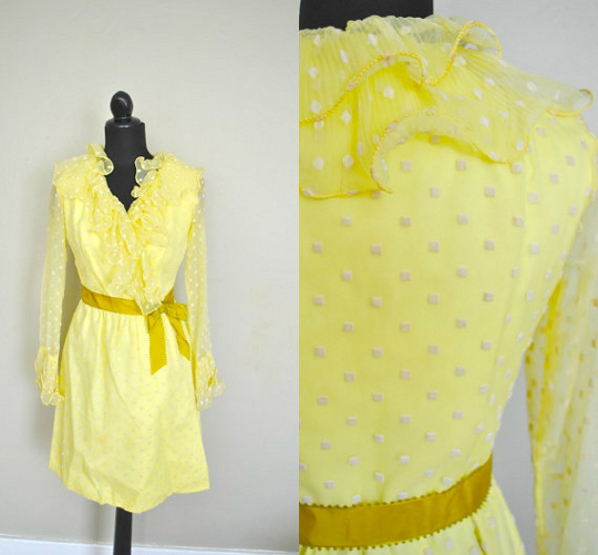 60s dress polka dots