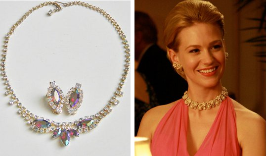 '60s costume formal jewelry as worn on mad men