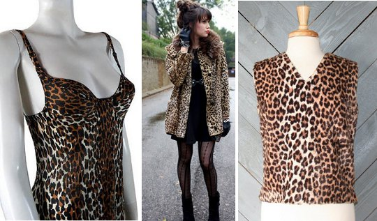 '60s leopard print prices to buy on etsy vintage marketplace