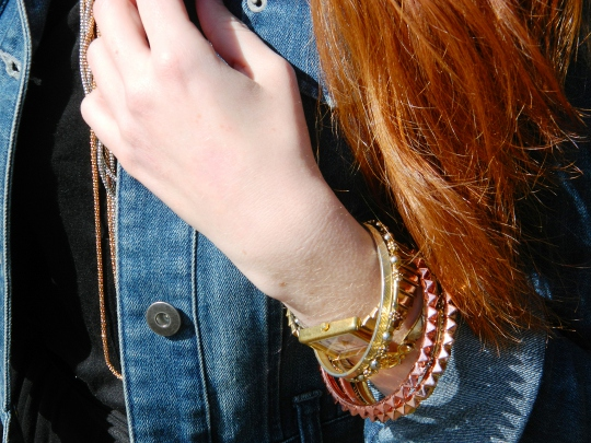bracelet accessories as worn by fashion blogger wore out