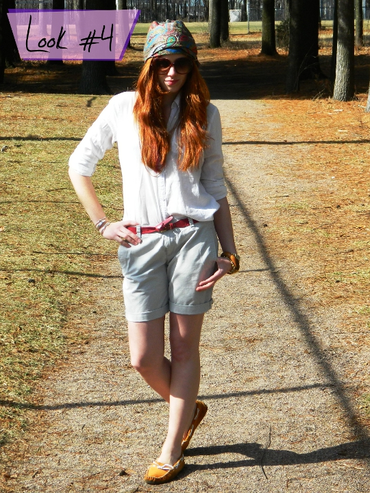 1920s vintage turban styled with shorts by fashion blogger wore out
