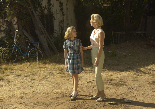 scene in mad men showing betty draper with daughter sally