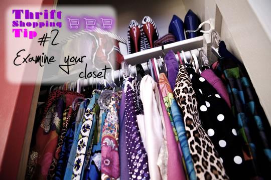 Thrifting like a pro - examine your closet