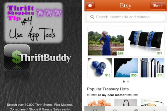 Thrifting - Use app tools