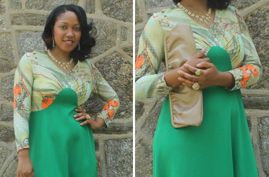 1970s maxi dress styled by fashion blogger stylish thought