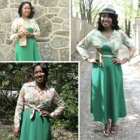 '70s Green Maxi Dress Accessorized 3 Ways