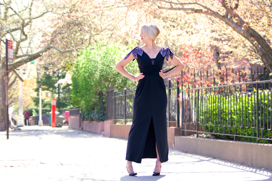 80s-Black-Dress-Evening-Gown-Wide