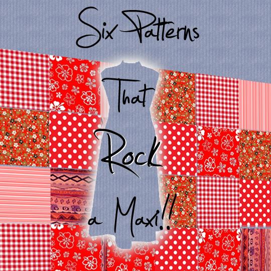 vintage maxi dress pattern collage