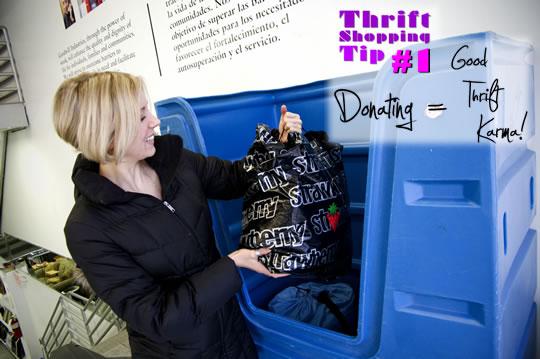 Thrift Bin for Donations