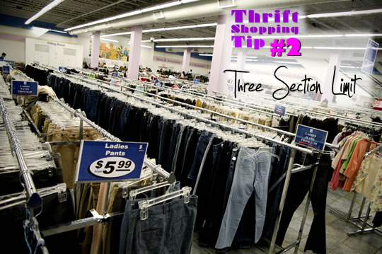 Thift Store Clothes Racks